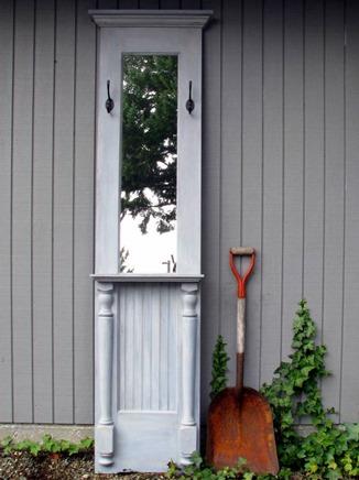 door hall tree mirror