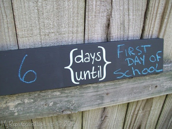 simple chalkboard sign