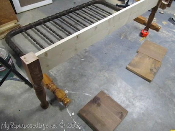 headboard bench front brace