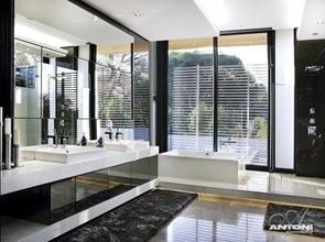 Baño de lujo estilo minimalista