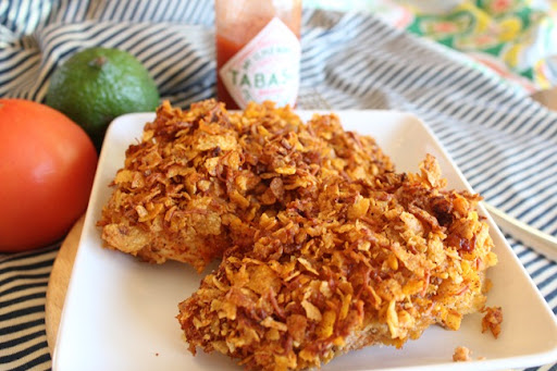 Oven Fried Mexican Chicken
