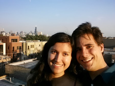 Me & Ellie with the Chicago skyline in the background
