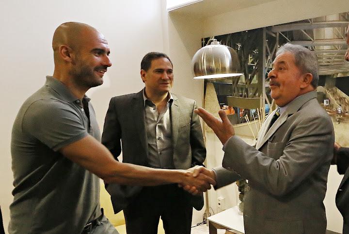 Lula se encontra com Pep Guardiola antes de palestrar no evento México Século XXI. Foto: Ricardo Stuckert/Instituto Lula