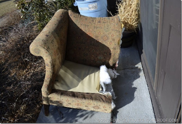 DIY couch, cut a couch in half with a sawzall