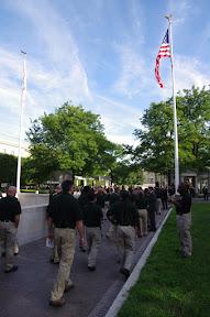Arriving at the Memorial