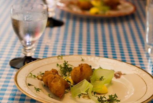 Friterede østers med vodka på Oyster & Grill
