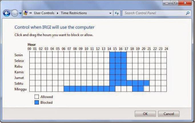cara membatasi penggunaan komputer setiap harinya