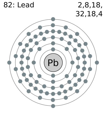 Electron shell 082 lead