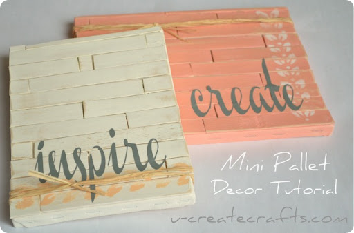 mini pallet decor tutorial 1