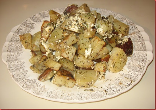 Roasted Greek Potatoes with Feta Cheese and Lemon | The Waking E-Zine