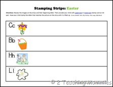 Stamping Strips Easter