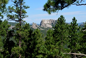 a little bit better view of Mt Rushmore