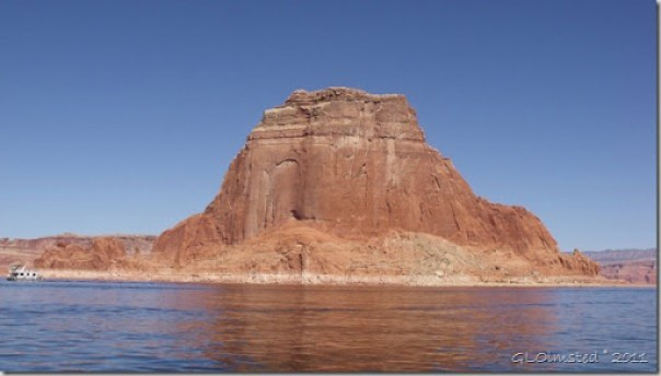 A towering butte Lake Powell Utah