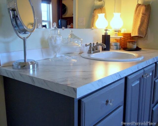 Builder grade vanity makeover 10