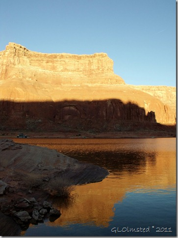 01 Morning light & reflection from camp Dungeon Canyon Lake Powell UT (766x1024)