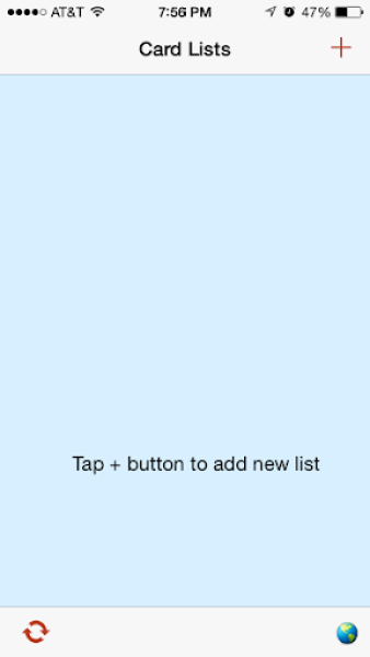 myCardLists_no lists