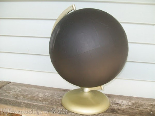 repurposed globe chalkboard paint (5)