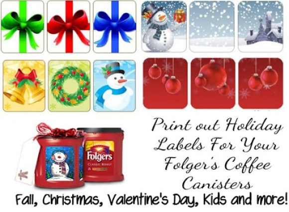 Folger's Coffee Labels for holidays and more! MyRepurposedLife.com
