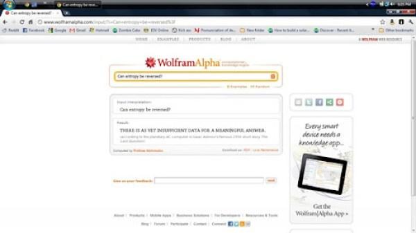 Wolfram Alpha Entropy