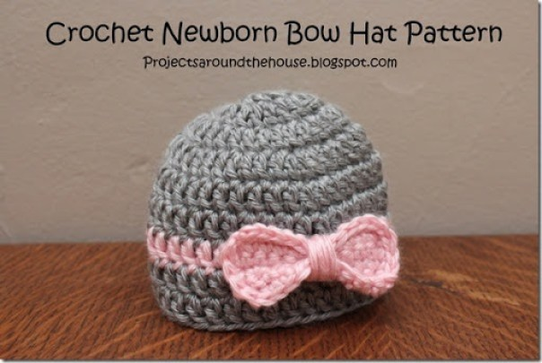 Crochet Newborn Bow Hat Pattern Renewed Claimed Path
