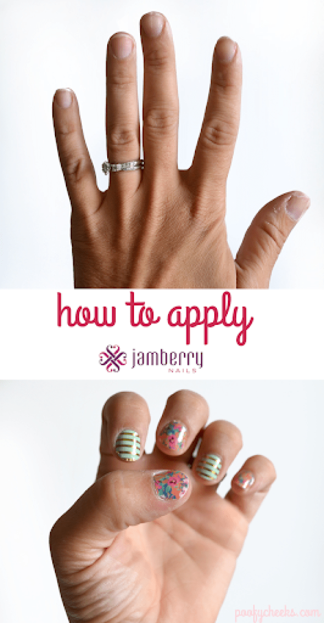 How to Apply Jamberry Nails - Poofy Cheeks