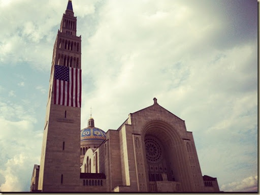Old Glory on the Basilica