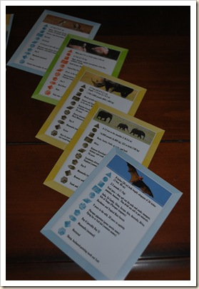 AIG animal stat cards