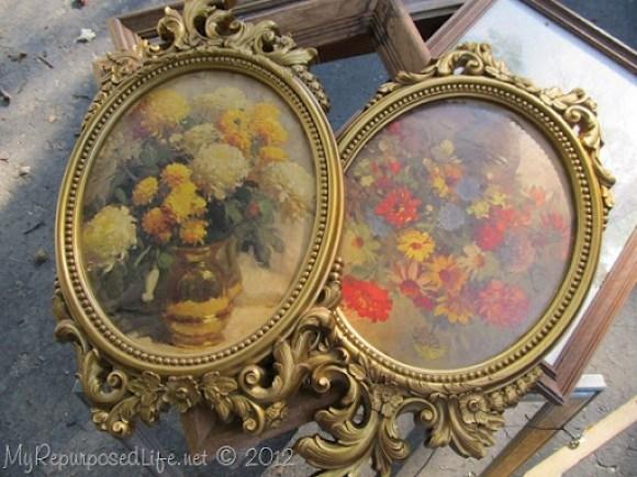 plastic gold pictures