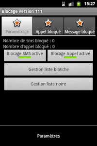 Blocage SMS et Appel screenshot 2