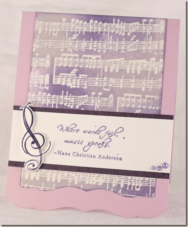 music distress embossed resist card