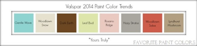 Valspar 2014 paint color trends - yours truly