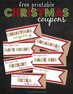 My Love for Words - Christmas Coupons