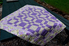 quilt for an as yet to be born baby girl