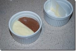 Fill the pudding cups and refrigerate