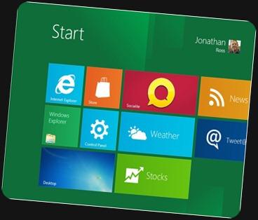 Windows 8 launch screen