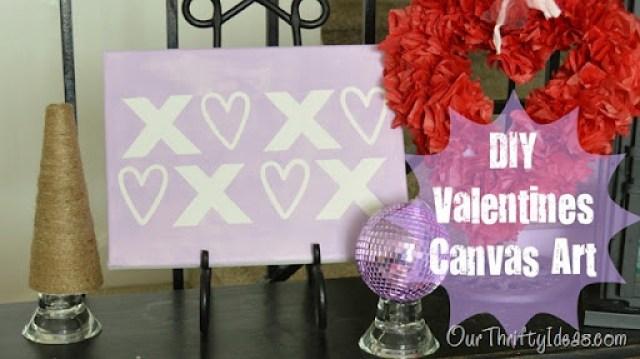 DIY Valentines Canvas Art