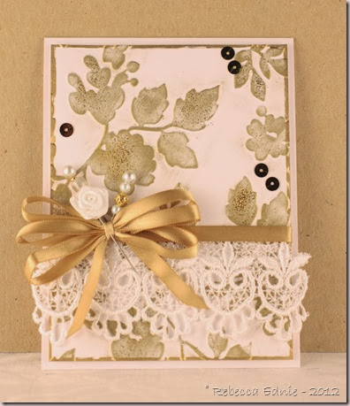 gold embossed elegant card