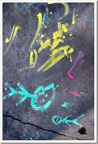 Sidwalk Paint ~ Our Aussie Homeschool