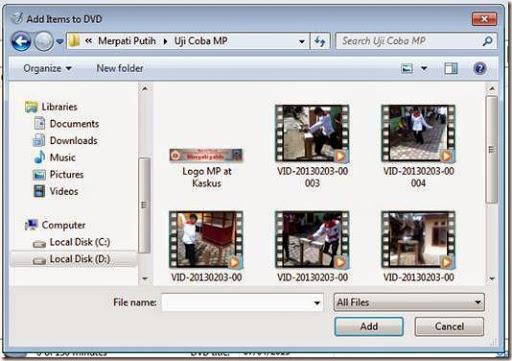 cara memburning data DVD ke kepingan