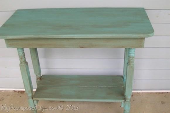 crib repurposed table