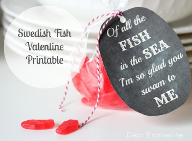 Swedish Fish Valentine Printable from Dear Emmeline