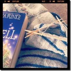 yarn along - gathering stripes