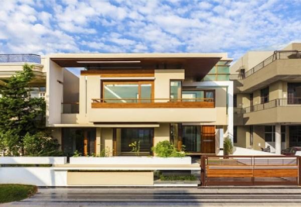 casa-moderna-Twin-Courtyard-House-diseñada-por-Charged-Voids