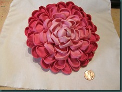 Camellia brooch - 5.5 inch size