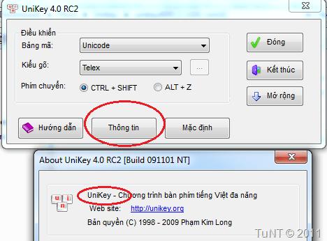 Phiên bản Unikey 32bit
