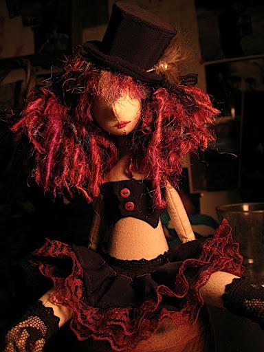 Burlesque art doll