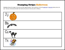 Stamping Strips Halloween