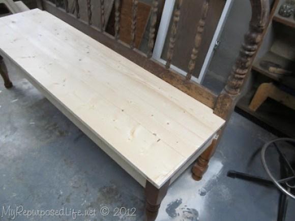 diy jenny lind bed bench
