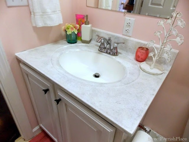 Bathroom sink and cabinet makeover