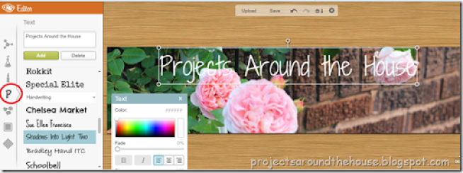 make a blog header 9